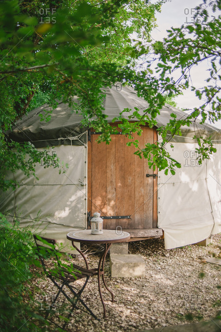 Yurt tent in secluded spot