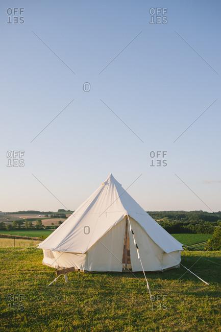 A yurt in idyllic countryside