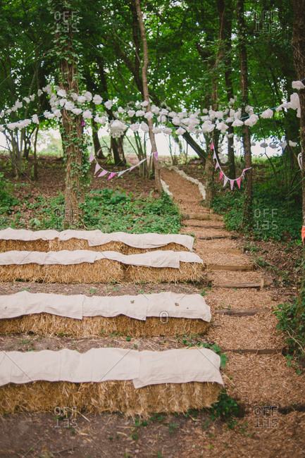 Rustic wooded wedding space