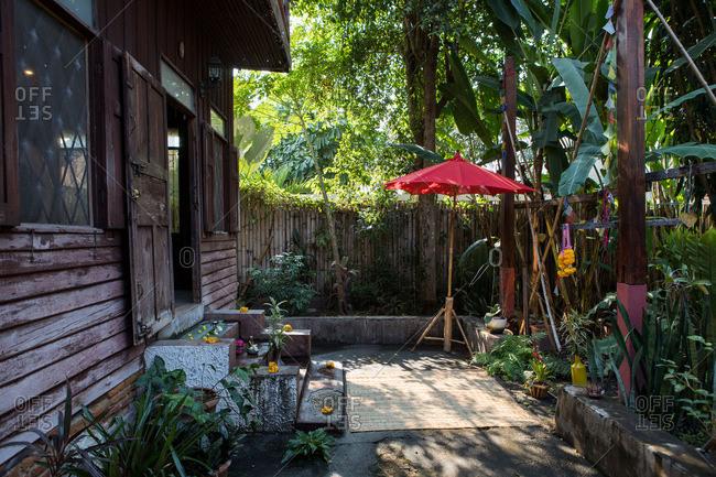 A yoga studio exterior in Chiang Mai, Thailand