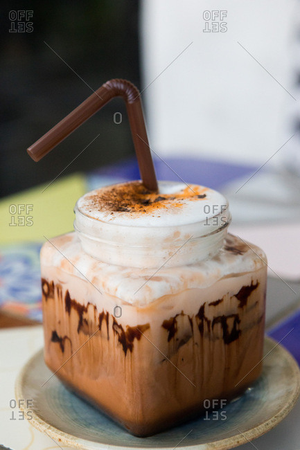 A cocoa Thai tea beverage in Chiang Mai, Thailand