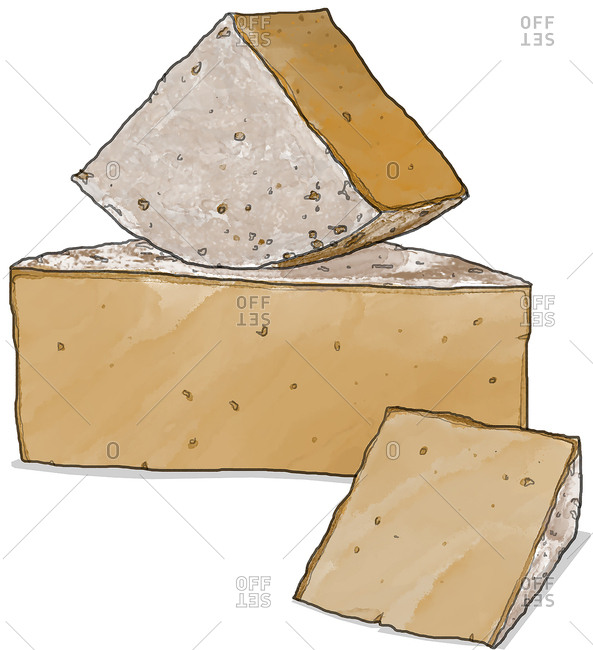 Stack of cheese wedges
