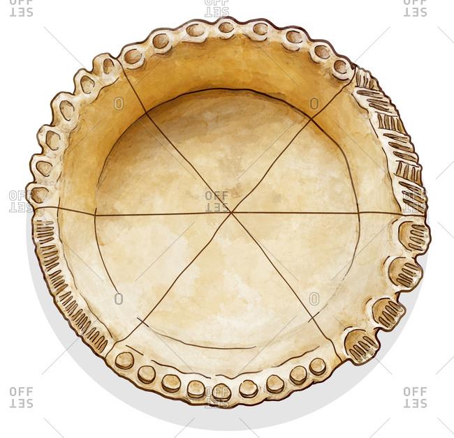 Pie crust in pan - Offset