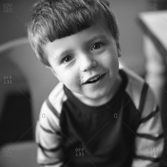 Boy with expression of wonder