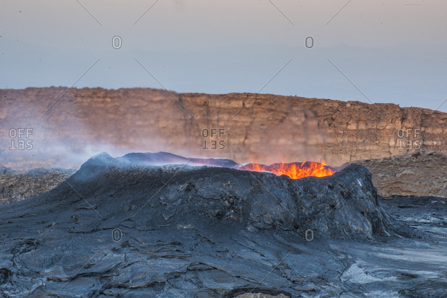 Ethiopia, Tigray . Eruption of Erta Ale Volcano