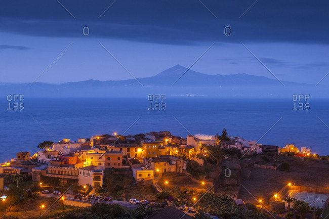 Canary Islands (Spain), La Gomera . View of Agulo