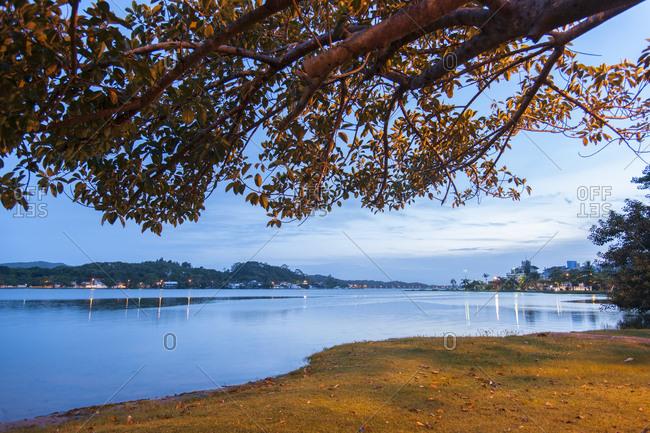 Brazil, Santa Catarina, Ilha Santa Catarina . Concecao lagoon at  Lagoa village