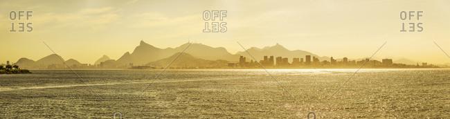 Brazil, Rio de Janeiro, Rio de Janeiro . Skyline of the town from Niteroi