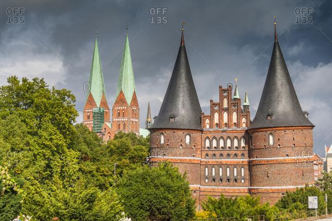 Germany, Schleswig - Holstein, Lubeck . Holstentor