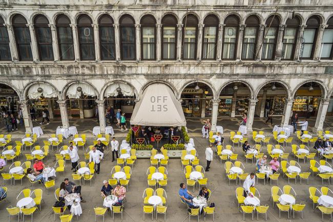 Italy, Veneto, Venice - April 23, 2015: Piazza (square) San Marco