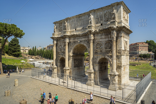 Italy, Latium, Rome - June 11, 2015:  Arco di Costantino, near Colosseo