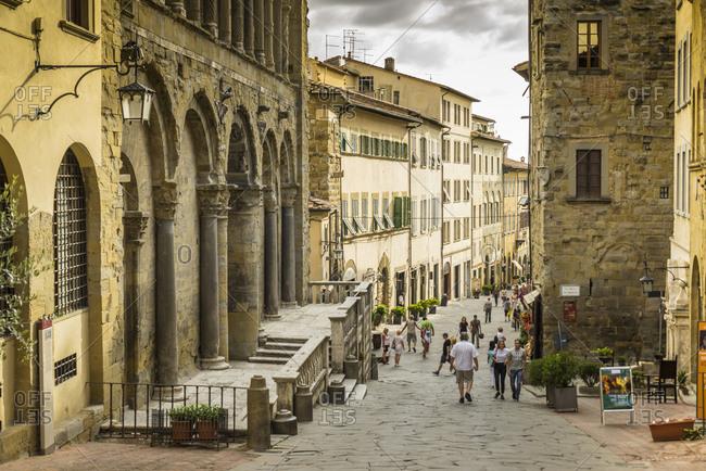 Italy, Tuscany, Arezzo - September 18, 2015: Corso Italia