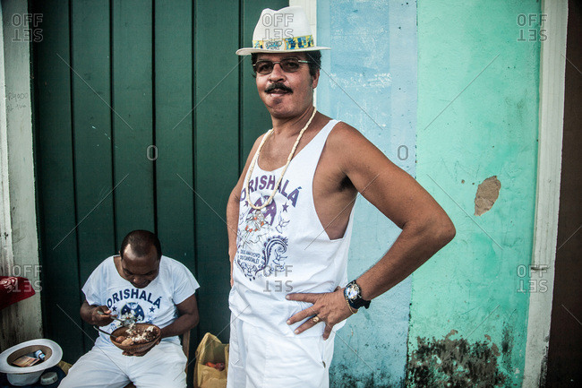 Salvador, Brazil - January 15, 2009: Portrait of a man standing with his hands on his hips
