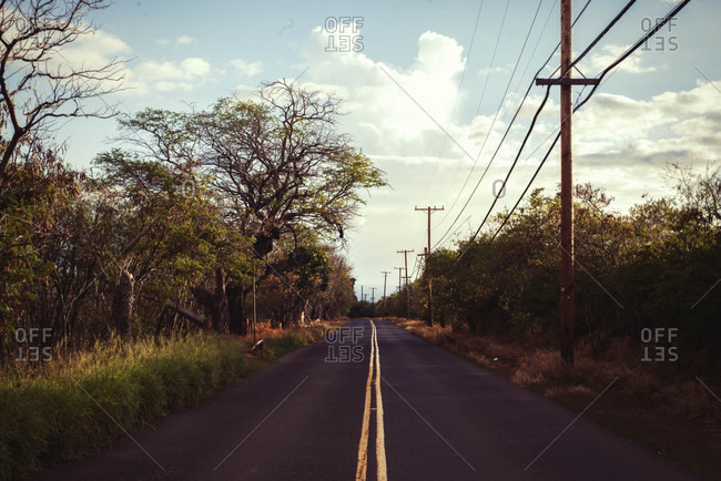 Landscape of empty road