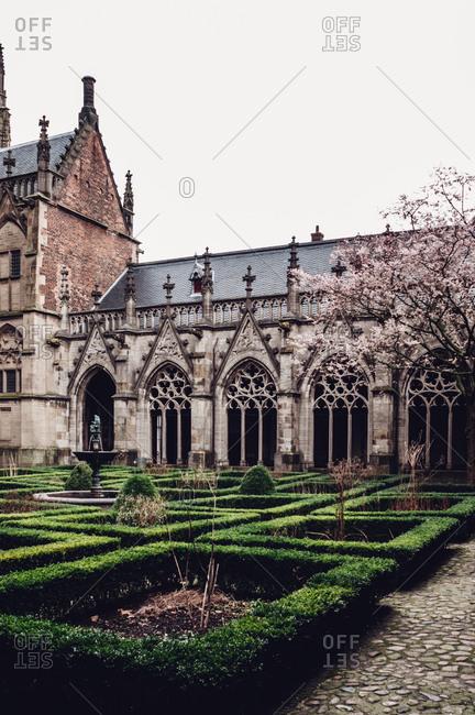 Church courtyard - vertical