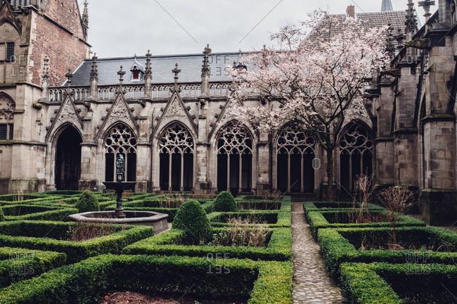 Church courtyard - horizontal