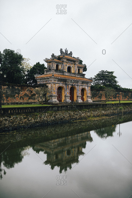 A gate and moat at the Imperial Citadel