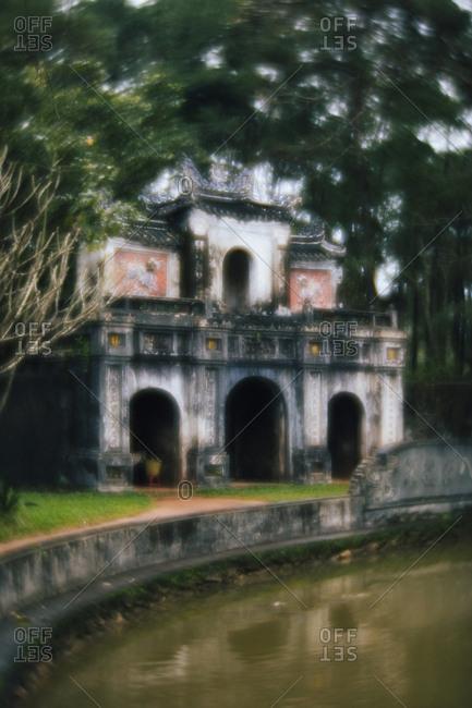 The entrance gate to Tu Hieu Pagoda