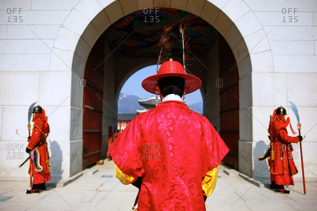 Changing of the Guards ceremony at Gyeongbokgung Palace in Seoul
