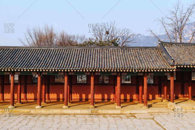 Corridor of The Throne Hall Compound at Gyeongbokgung Palace, Seoul