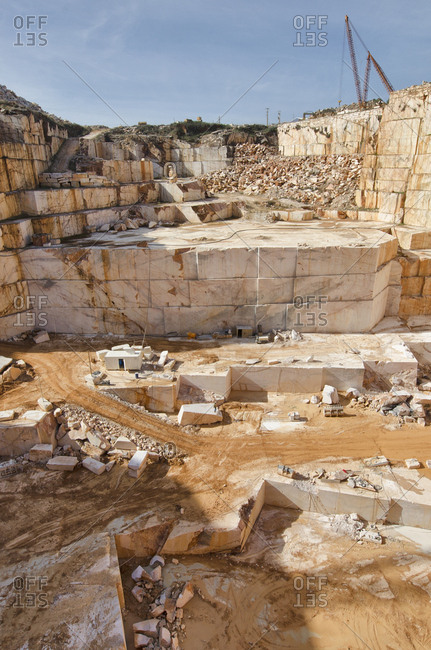 View of a deep marble quarry
