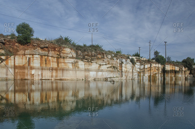 Marble quarry along water