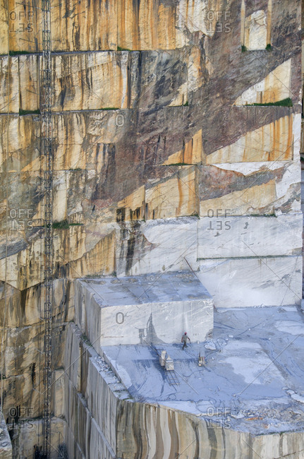 Side of a deep marble quarry