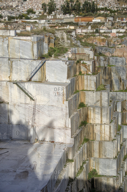 View of site of marble quarry