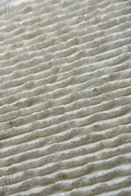 Ridges on a marble slab