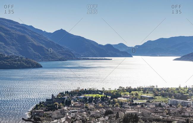 Urban waterfront, Gravedona, Lake Como, Italy