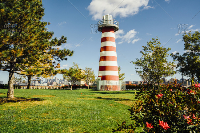 Lefrak Point Lighthouse, Jersey City, New Jersey, United States