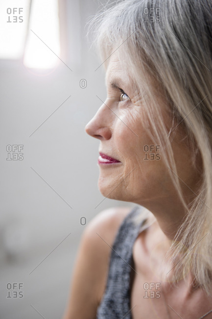 Caucasian woman looking away