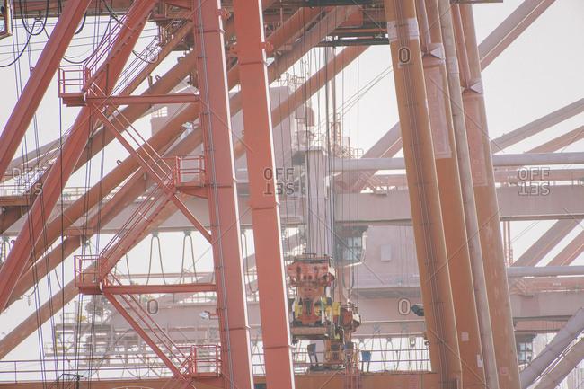 Cranes at shipping port