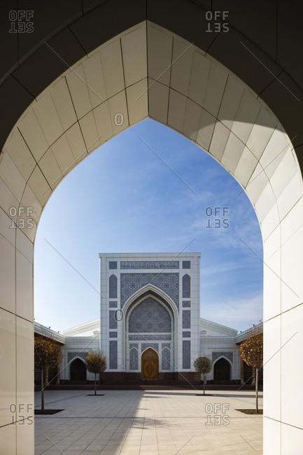 Tashkent, Tashkent, Uzbekistan - November 11, 2016: Arch to courtyard, Tashkent, Tashkent, Uzbekistan
