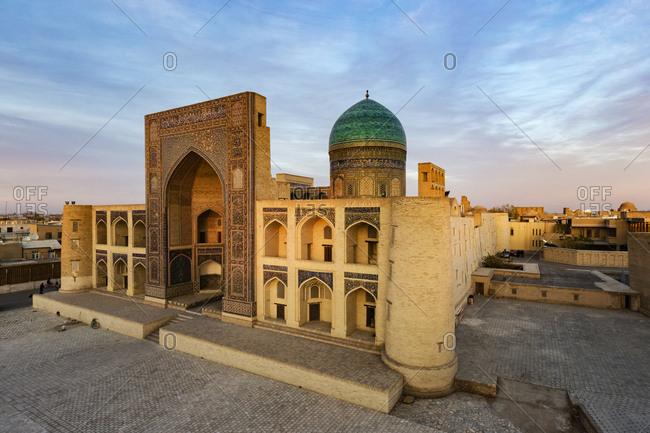 Bukhara, Bukhara, Uzbekistan - November 13, 2016: Miri Arab Madrassah, Bukhara, Bukhara, Uzbekistan