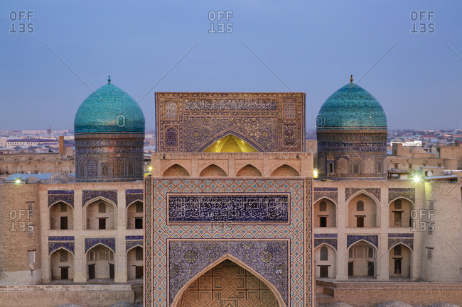 Bukhara, Bukhara, Uzbekistan - November 13, 2016: Miri Arab Madrassa, Bukhara, Bukhara, Uzbekistan