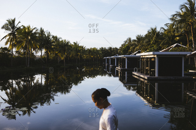 Hoi An, Vietnam - January 16, 2017: The spa at the Four Seasons Nam Hai resort in Hoi An, Vietnam.