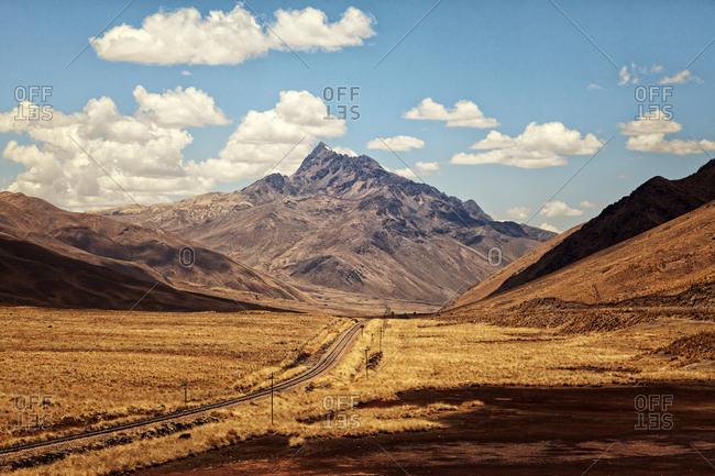 Beautiful Andes mountains in Peru