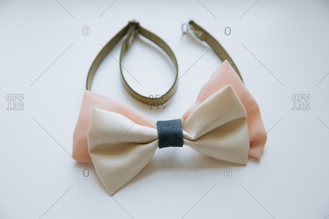 A bowtie with adjustable strap