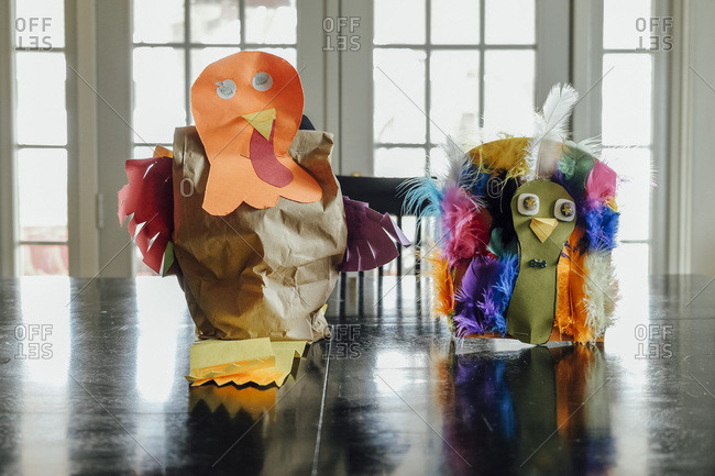 Children's turkey crafts