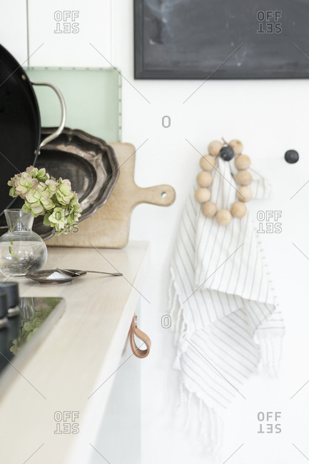 Dishes on a kitchen counter