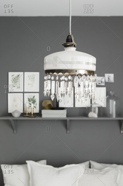 Light fixture in a Scandinavian home