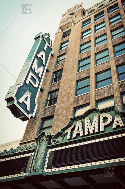 September 28, 2013 -  Tampa, Florida: The historic Tampa Theater