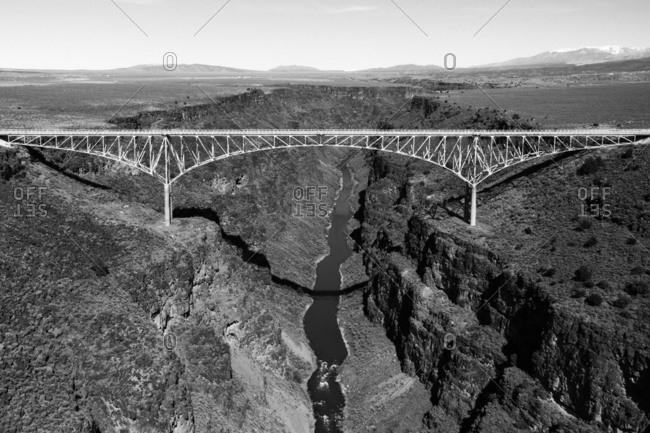 Bridge over the Rio Grande river near Taos, New Mexico