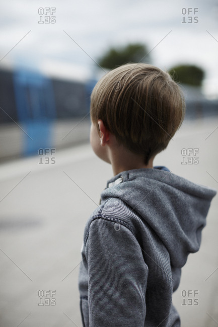 Sweden, Stockholm, Boy looking away