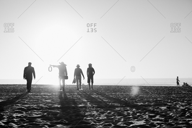 USA, Los Angeles - November 28, 2016: People walking on Venice Beach