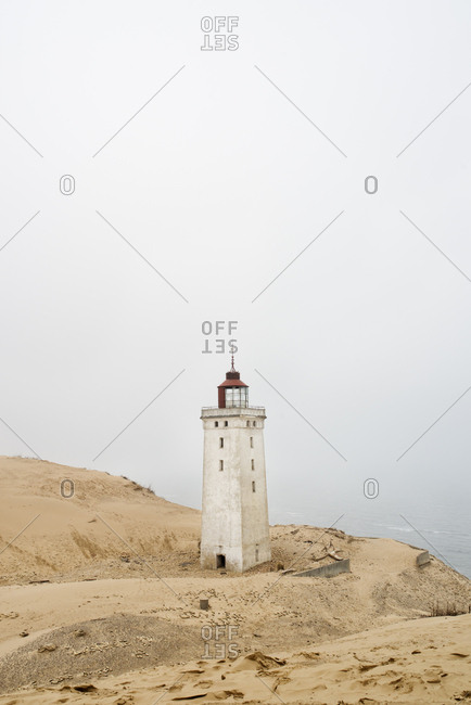 Denmark, Nordjylland, Lokken, Rubjerg Knude fyr lighthouse