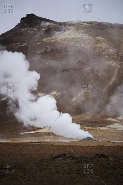 Iceland, Norourland eystra, Hverarond field and Namafjall