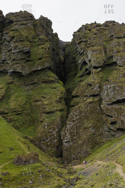 Iceland, Suournes, Rauofeldsgja Gorge also called Rauofeldsgja ravine
