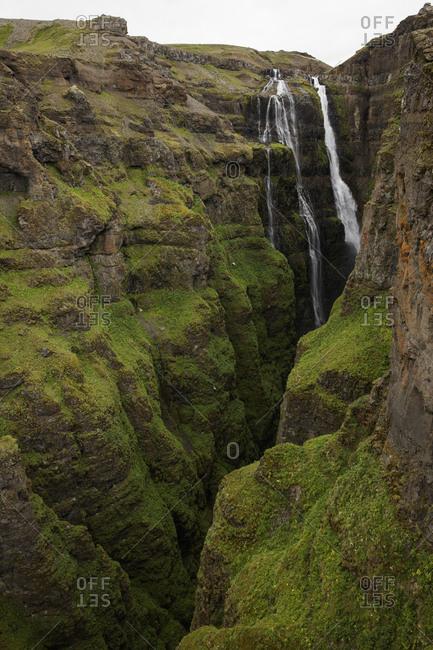 Iceland, Suournes, Glymur waterfall